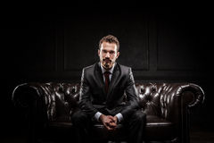 Young confident businessman. In a suit Stock Images