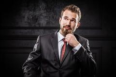 Young confident businessman Stock Photos