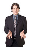 Young confident businessman talking Royalty Free Stock Photos