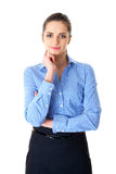 Young confident businesswoman portrait, isolated Stock Images