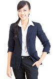 Young, confident Chinese business woman Stock Photography