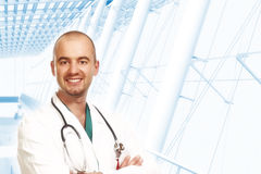 Young confident doctor Royalty Free Stock Image