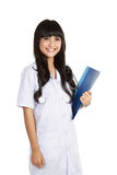 Young confident doctor woman Stock Images