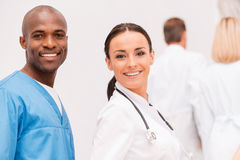 Young and confident doctors. Stock Photography