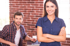 Young and confident experts. Stock Photography