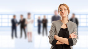 Young and confident female business manager Royalty Free Stock Photo