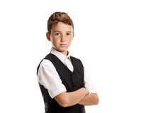 Young confident schoolboy Royalty Free Stock Images