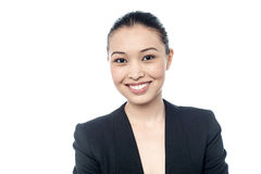 Young confident smiling businesswoman Royalty Free Stock Images