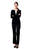 Young confident smiling businesswoman Stock Image