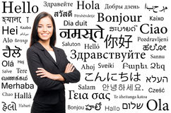 Young, confident, successful and beautiful businesswoman Stock Image