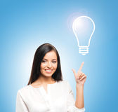 Young, confident, successful and beautiful businesswoman Stock Images