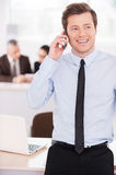 Young and confident team leader. Royalty Free Stock Photo