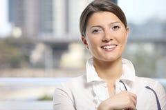 Young confident woman stock photos