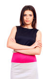Young confident woman in dress Stock Photos
