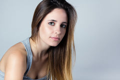 Young confident woman looking at camera Stock Photography