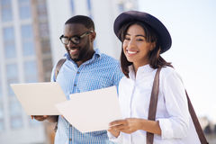 Young confident woman meeting her business partner Stock Photography