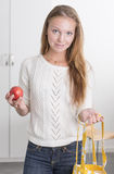 Young confident woman with reusable shopping bag Stock Photography