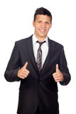 Young Confident young business man saying Ok Royalty Free Stock Photo