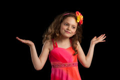 Young Confused Girl Royalty Free Stock Photography