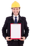 Young construction architect isolated Royalty Free Stock Images
