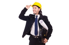 Young construction architect isolated Stock Photography