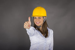 Young construction engineer woman Stock Photography