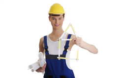 Young construction man Stock Images