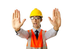 Young construction worker Royalty Free Stock Image