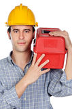 Young construction worker Stock Image