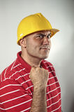 Young construction worker confident Royalty Free Stock Photos