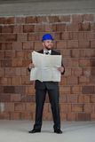 Young Construction Worker In Hard Hat Stock Images
