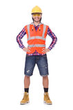 Young construction worker in helmet and briefs Stock Images