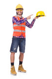 Young construction worker in helmet Stock Photography