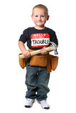 Young Construction Worker Holding a Hammer Royalty Free Stock Photo