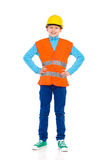 Young construction worker posing Stock Photos