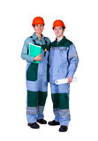 Young construction workers Royalty Free Stock Photo