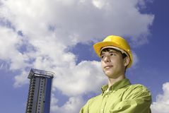 Young constructor Stock Images