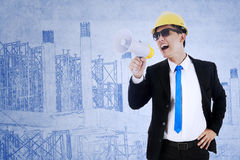 Contractor announce meeting Royalty Free Stock Photography