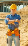 A young contractor Stock Image