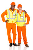 Young contractors standing Royalty Free Stock Image