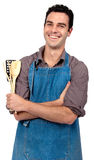 Young cook stock photography