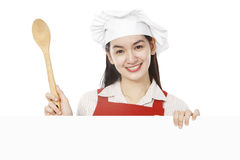 Young Cook Above Blank Space Royalty Free Stock Photo