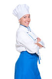 Young cook with crossed hands Royalty Free Stock Photos