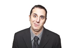 Young cool businessman face expression Royalty Free Stock Images