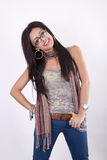 Young cool urban girl. Smiling Royalty Free Stock Photo