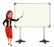 Young Corporate lady with display board Stock Photos