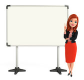 Young Corporate lady with display board Stock Images