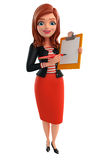 Young Corporate lady with notepad Stock Photography