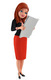 Young Corporate lady is reading Royalty Free Stock Image
