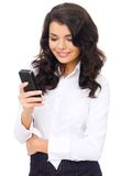 Young Corporate Woman Using Mobile Phone Royalty Free Stock Image